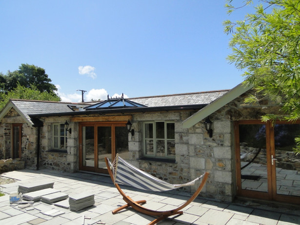 Single storey rear extension to barn in Leedstown, Cornwall.