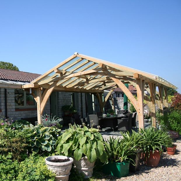 Oak frame loggia