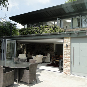 Bi-folds doors for indoors/outdoor living.