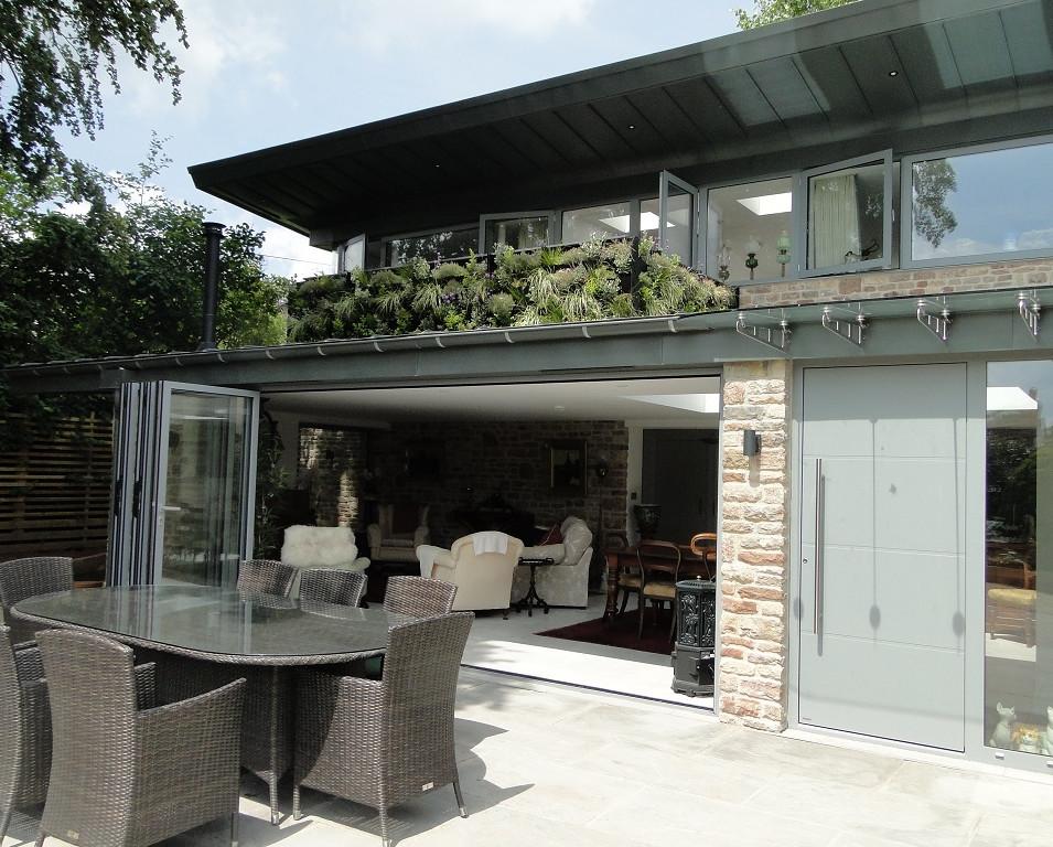 Bi-folds doors for indoors/outdoor living.