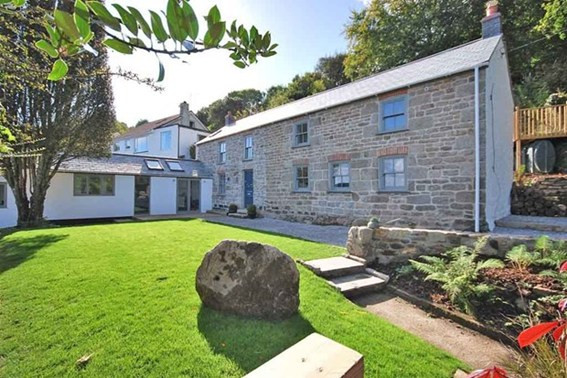 Completed Cornish cottage renovation and extension in Ponsanooth, Cornwall.