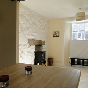 Reconfiguration of Grade II Listed house in St Ives, Cornwall.