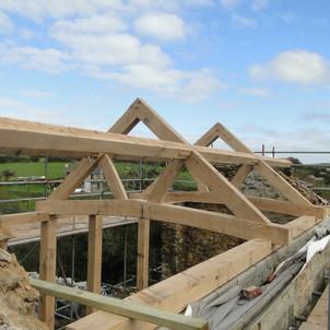 Oak roof trusses