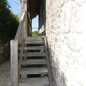 Exterior oak steps