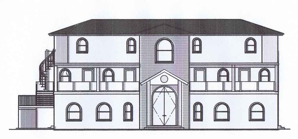 Front elevation of proposed penthouse suite.