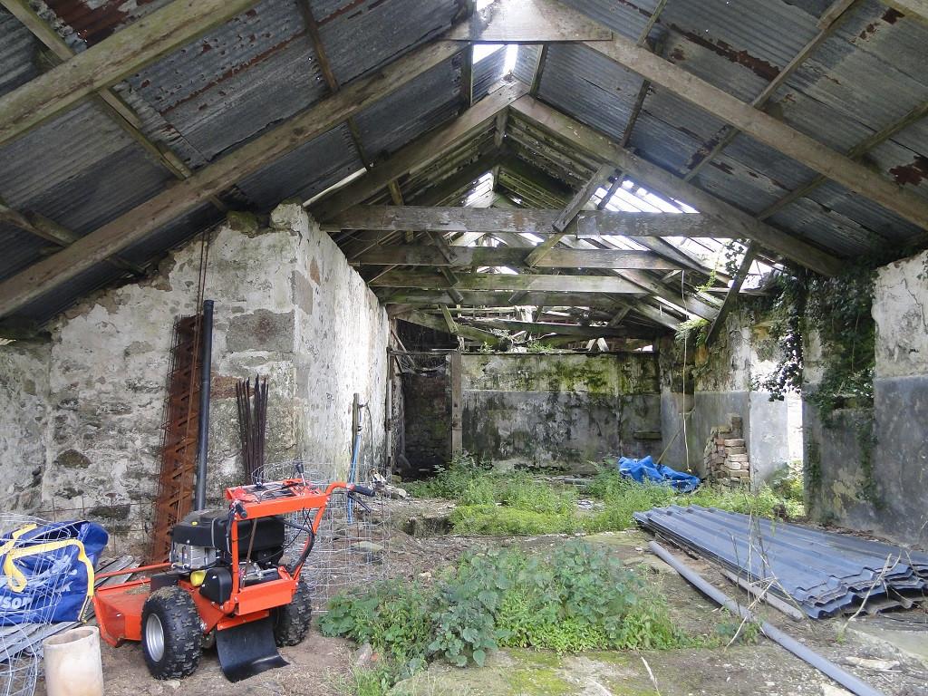 Original internal barn before conversion works near Penzance