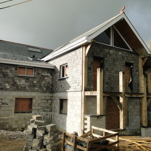 Rear extension clad in reclaimed natural salte