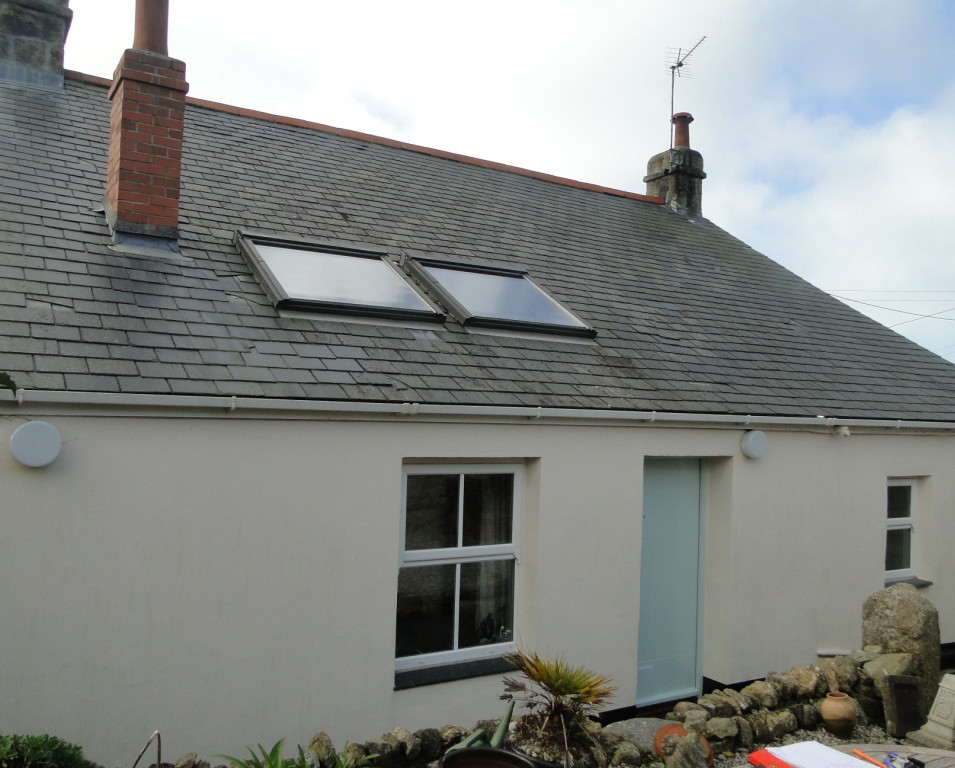 Original cottage before extension in St Ives.