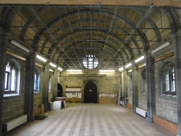 Internal photo of original church before conversion in Truro, Cornwall.