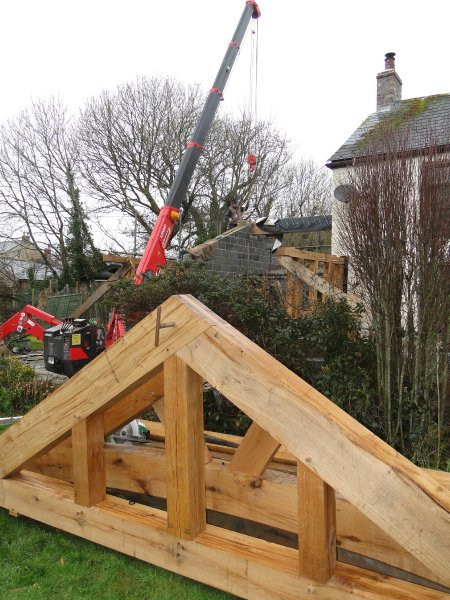 Oak frame installation