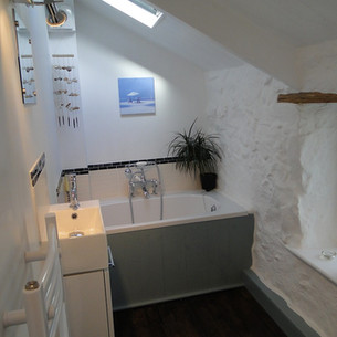 New ensuite Bathroom within  Grade II Listed house in St Ives, Cornwall.