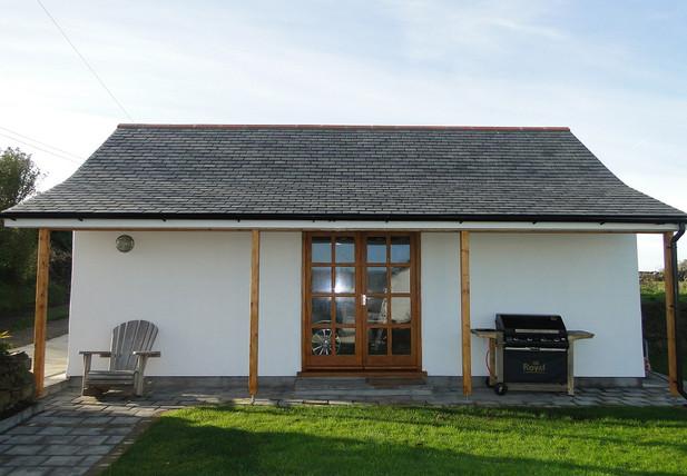 Detached garage for Cornish cottage near Truro, Cornwall.
