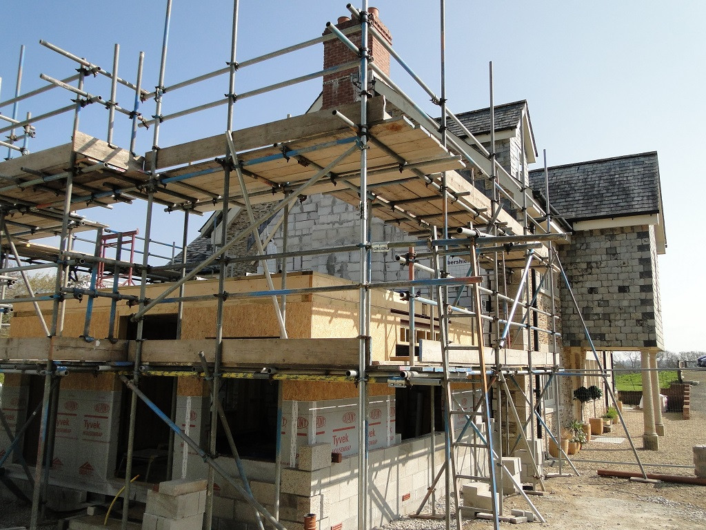 Extension works are commencing to Cornish House in Feock.