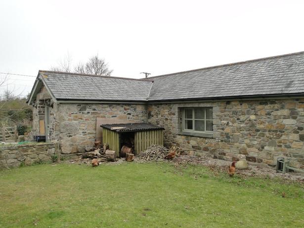 Original barn before extension.