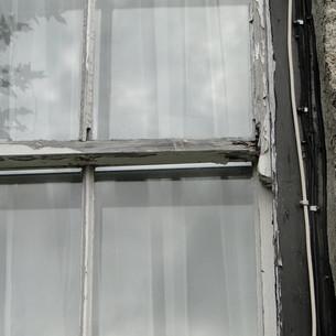 Original sash window before renovation.