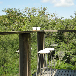 Oak frame glazed balcony