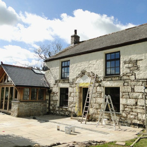 Repointing Cornish cottage in lime