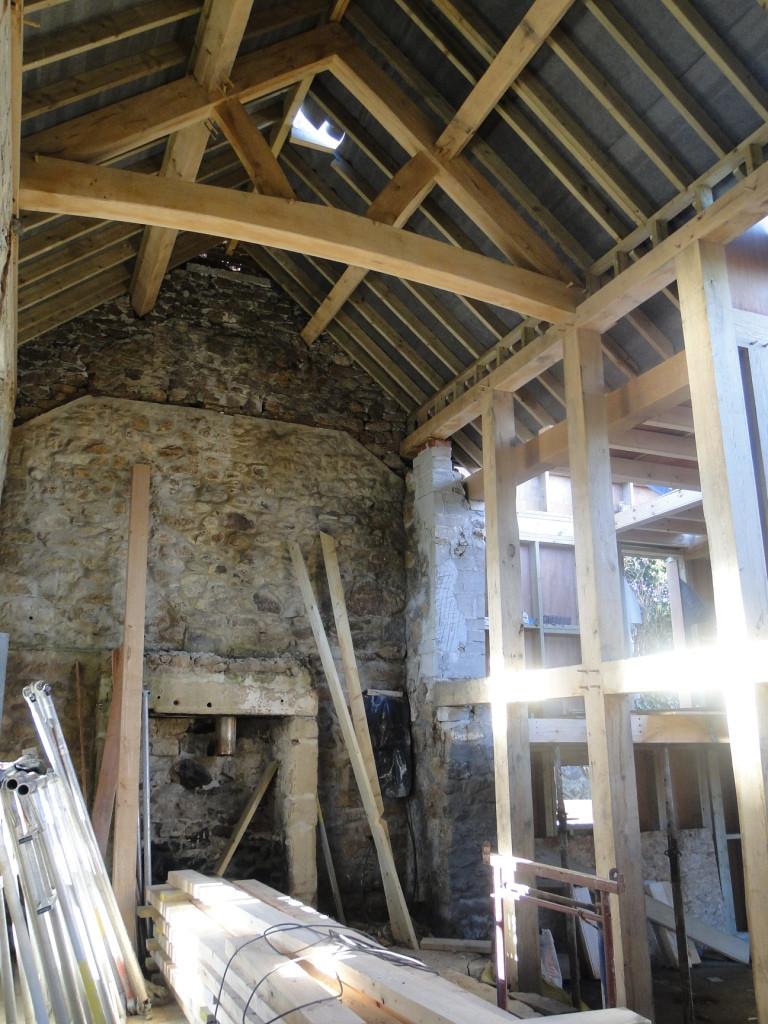 Internal structural oak frame