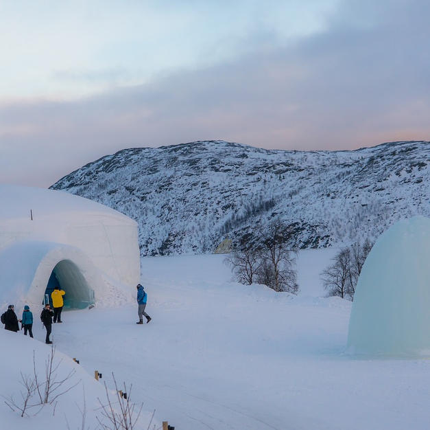 Overnight surrounded by wilderness in a glass igloo and a Finnish log cabin.