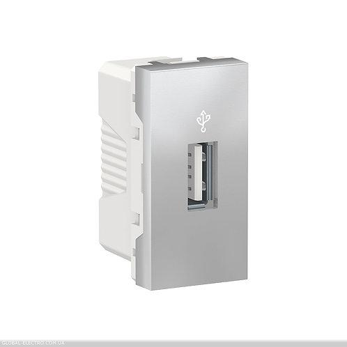 NU342930 USB-коннектор 1 модуль алюміній
