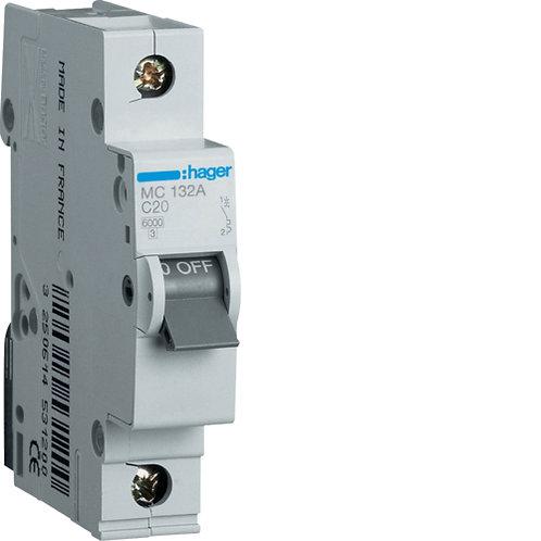 Автоматичний вимикач 1P 6kA C-32A 1M