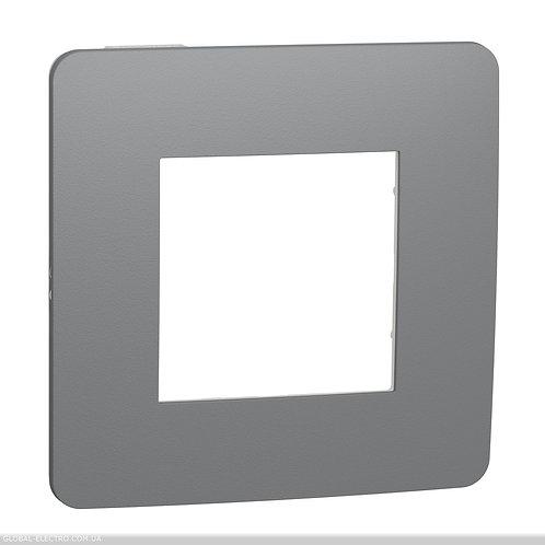 NU280221 Рамка 1-постова, Димчато-сірий/білий
