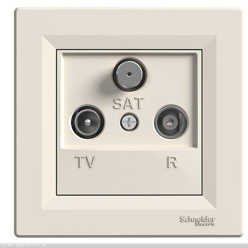 EPH3500223 TV-R-SAT РОЗЕТКА 4dB проходной КРЕМ ASFORA