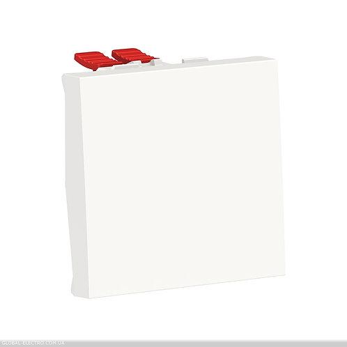 NU320518 Перемикач 1-клавішний перехресний схема 7, 10А, 2 модуля білий