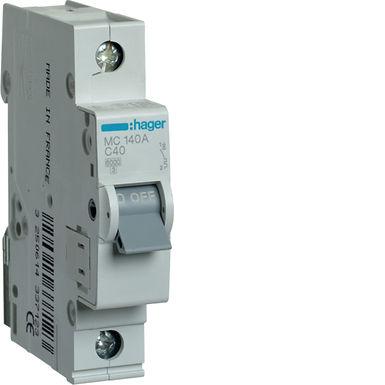 Автоматичний вимикач 1P 6kA C-40A 1M