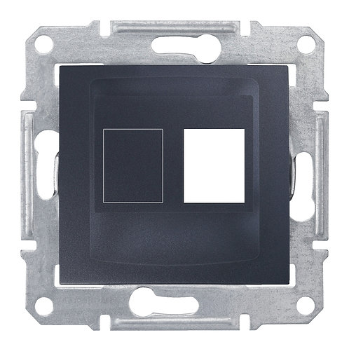 SDN4300670 НАКЛАДКА ДЛЯ 1 модуля AMP / MOLEX КАТЕГОРИИ 5e 6 UTP SEDNA ГРАФИТ