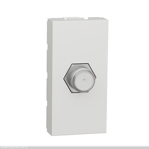 NU346818 Розетка Coaxial F-type, 1 модуль білий