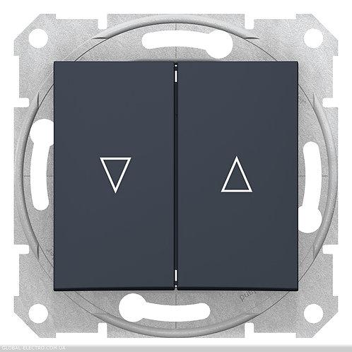 SDN1300170 ВЫКЛЮЧАТЕЛЬ ДЛЯ ЖАЛЮЗИ С электрической блокировкой SEDNA ГРАФИТ