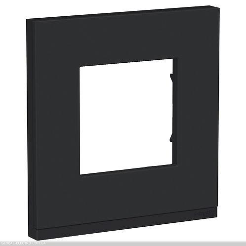 NU600282 Рамка 1-постова, горизонтальна, Каучук/антрацит