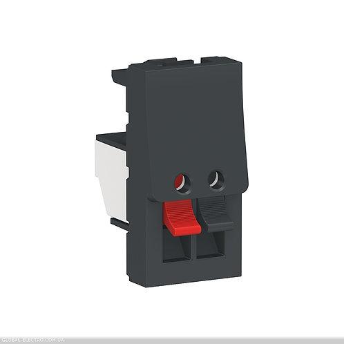 NU348754 Аудіорозетка 1 модуль антрацит