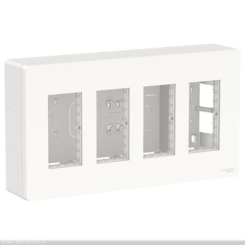 NU124418 Блок unica system+ відкрита вставка 4х2 білий