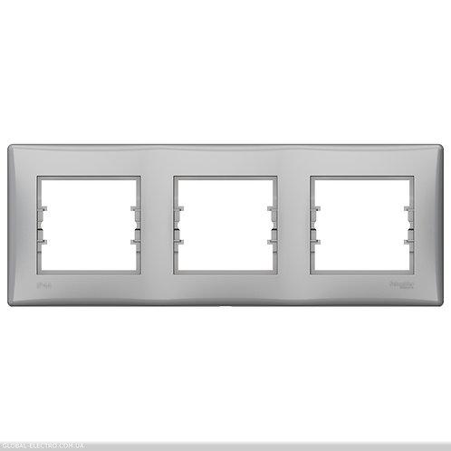 SDN5810760 РАМКА 3-постовой ГОРИЗОНТАЛЬНАЯ IP44 АЛЮМИНИЙ