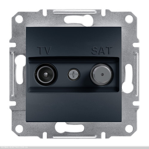 EPH3400371 TV-SAT РОЗЕТКА 8dB проходной ASFORA АНТРАЦИТ