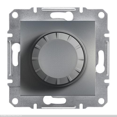 EPH6500162 Светорегулятор поворотный с красной подсветкой ASFORA СТАЛЬ