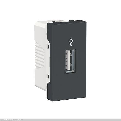 NU342954 USB-коннектор 1 модуль антрацит