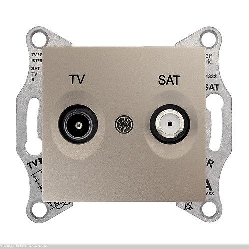 SDN3401968 TV / SAT РОЗЕТКА проходной ТИТАН