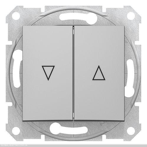 SDN1300160 ВЫКЛЮЧАТЕЛЬ ДЛЯ ЖАЛЮЗИ С электрической блокировкой SEDNA АЛЮМИНИЙ