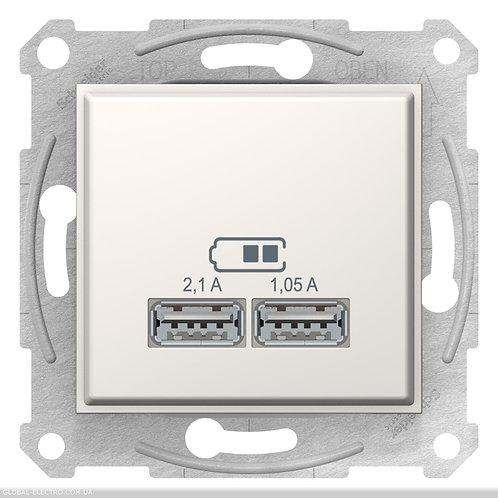 SDN2710223 USB РОЗЕТКА SEDNA 2,1A слоновой кости