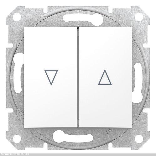 SDN1300121 ВЫКЛЮЧАТЕЛЬ ДЛЯ ЖАЛЮЗИ С электрической блокировкой SEDNA БЕЛЫЙ