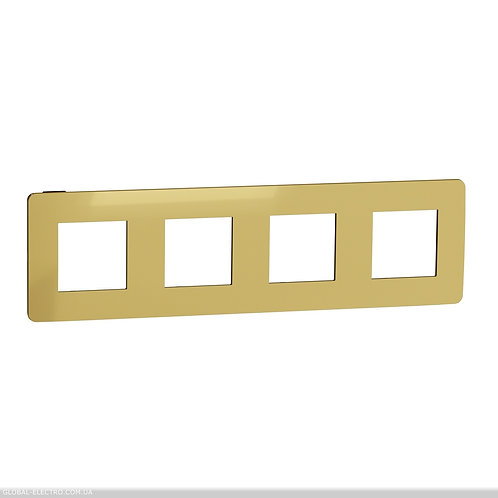 NU280862 Рамка 4-постова, Золото/антрацит