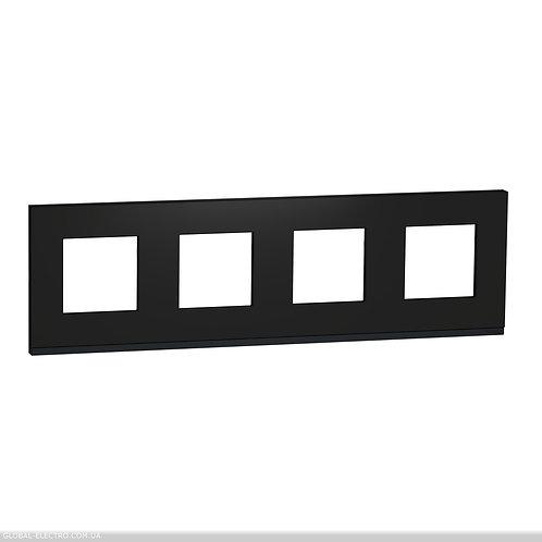 NU600882 Рамка 4-постова, горизонтальна, Каучук/антрацит