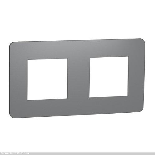 NU280421 Рамка 2-постова, Димчато-сірий/білий