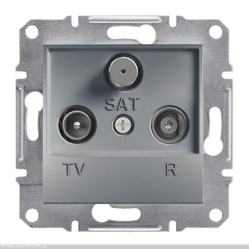 EPH3500362 TV-R-SAT РОЗЕТКА 8dB проходной ASFORA СТАЛЬ