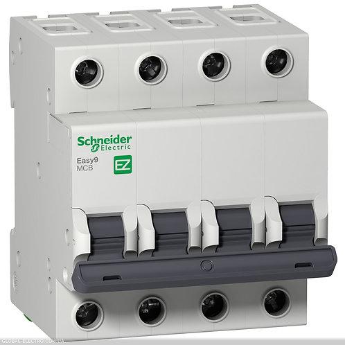 "EZ9F34425 Автоматический выключатель EASY 9 4П 25А 4,5 кА характеристика ""С"""
