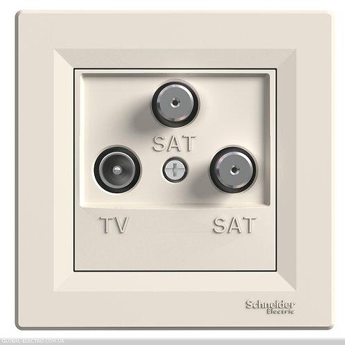 EPH3600123 TV-SAT-SAT РОЗЕТКА КОНЕЧНАЯ КРЕМ ASFORA
