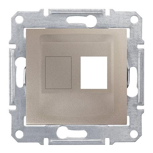SDN4300668 НАКЛАДКА ДЛЯ 1 модуля AMP / MOLEX КАТЕГОРИИ 5e 6 UTP SEDNA ТИТАН